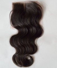 Swiss Lace Closure Body Wave Brazilian Virgin Hair Free Parting