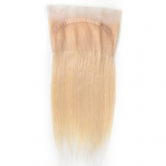 "360 Frontal 22""X4"" Peruvian Virgin Hair Straight  blonde color 613"
