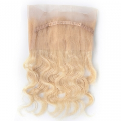 "360 Frontal 22""X4"" Peruvian Virgin Hair Body Wave Blonde Color 613"