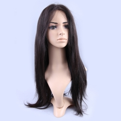 Full Lace Wig Brazilian Virgin Hair 150% Density Silky Straight Natural Color