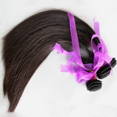 Brazilian Virgin Hair Weave Silky Straight 3 bundles/lot Natural color  Free Shipping