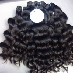 Brazilian Virgin Hair Weave Italian Curly Hair Natural Color 1 Bundles