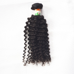 Indian Virgin Hair Jerry Curly Wave Natural Color 1 Bundle