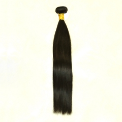 Full End Brazilian Remy Hair Silky Straight Natural Black 1 Bundle Deals