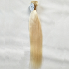 Brazilian Virgin Hair Weave Straight Blonde Color 613# 1 Bundle