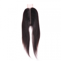 "Kim K Closure 2""X6"" Indian Remy Hair Silky Straight"